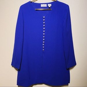 Vintage Liz Claiborne Dresses Blue Tunic/Dress 10